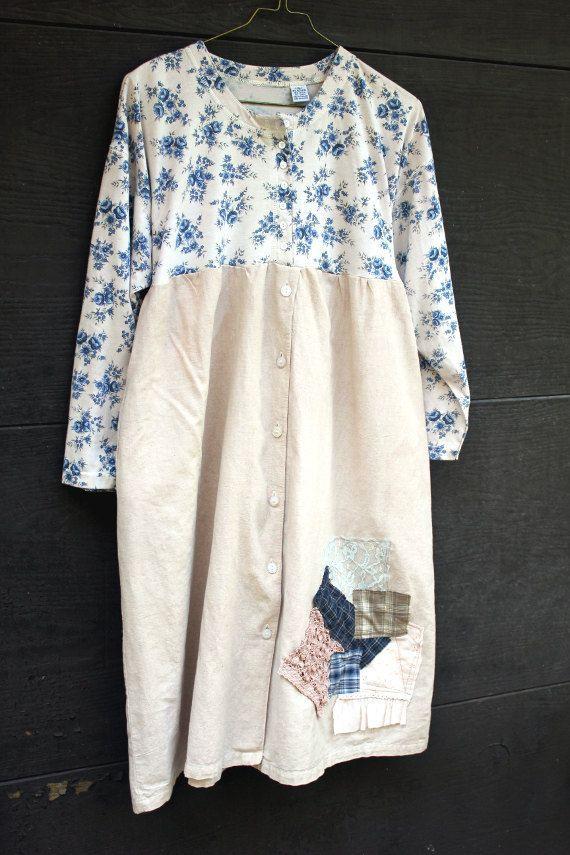 prairie style clothing | Shabby Chic Linen Prairie Style Dress