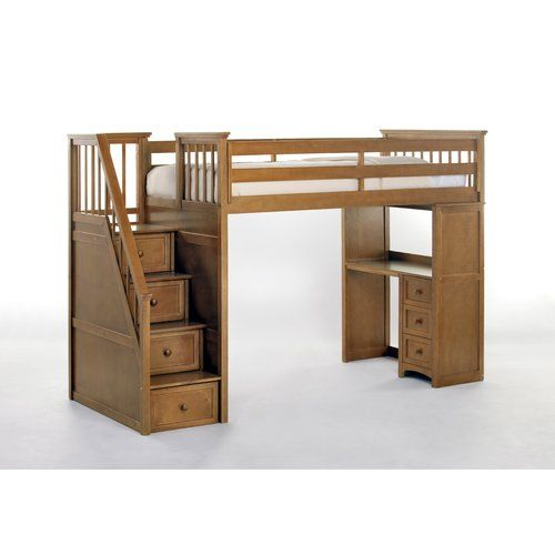 Found It At Wayfair Summer Stair Loft Bed With Desk End