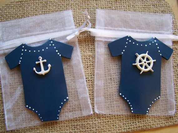 maybe cookies for party favors ? Nautical baby shower baby onesie nautical by FavorsByGirlybows, $16.50