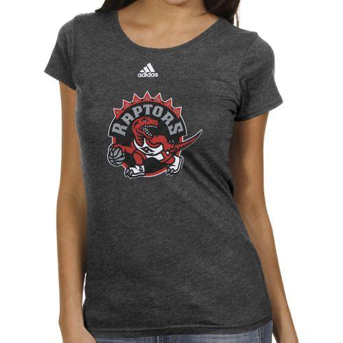 NBA adidas Toronto Raptors Women's Better Blank Primary Logo T-Shirt - Charcoal