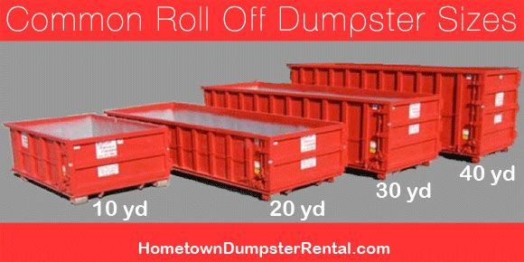 Roll Off Dumpster Sizes Dumpster Sizes Roll Off Dumpster Dumpster Rental