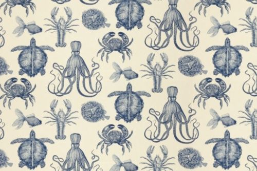 $26.39/yd Calico Corners:  Oceana - Thomas Paul - Indigo.  Thinking about this for window treatments in great room