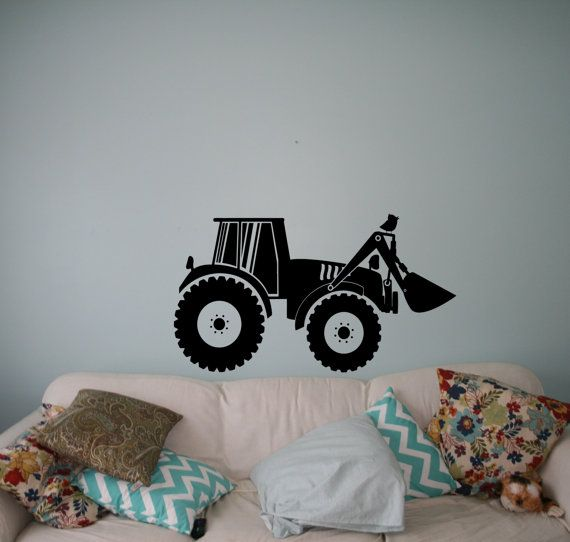 Tractor Vinyl Decal Farm Wall Sticker Nursery Interior Wall