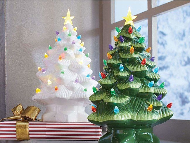 Act Fast Nostalgic Vintage Ceramic Christmas Trees Just Came Back In Stock Ceramic Christmas Trees Vintage Ceramic Christmas Tree Christmas Decorations