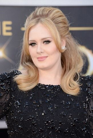 Adele Oscars Hair How To With John Frieda Products  http://www.beautyandfashiontech.com/2013/02/adele-oscars-hair-with-john-frieda.html