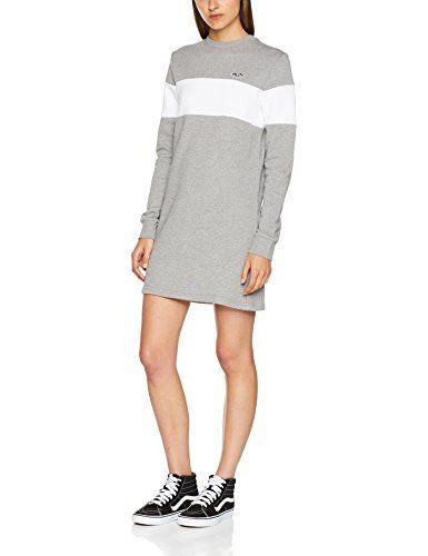 039a72957a26 Vans Apparel Wild Bunch Dress Vestito Donna Grigio (Grey Heather) 12  (Taglia Produttore