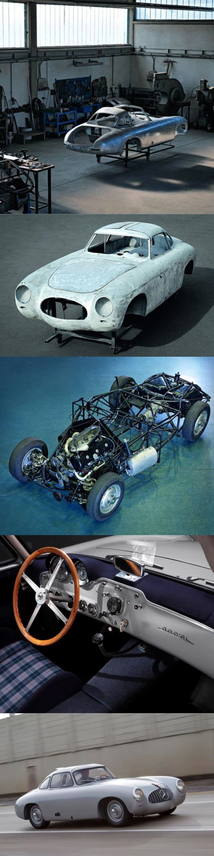 1951 Mercedes-Benz 300 SL / W194 / restoration of the 2nd ever made as well as the oldest survivor / 170hp 3.0l L6 / Uhlenhaut / silver blue / Germany