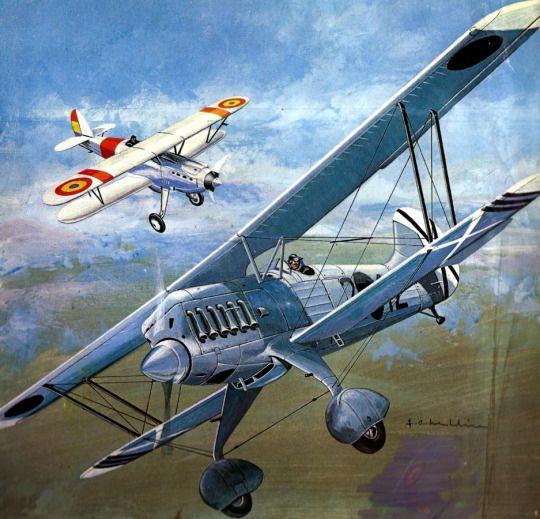 Heinkel 51 vs Nieuport over Spain