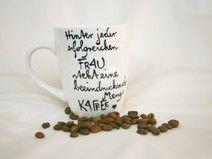 Kaffeebecher mit Spruch für erfolgreiche Frauen