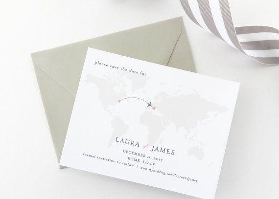 PAPER SAMPLES Traveler Wedding Save The by augustandwhitedesign