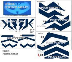 Preview - free printable template for diy pj masks catboy costume stripes, masks included