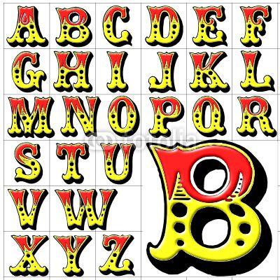 Papier peint abc alphabet cirque conception - arrière-plan • PIXERS.fr
