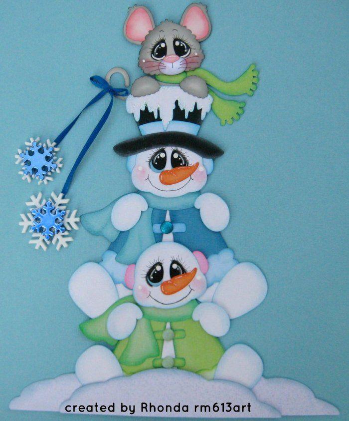 muñeco de nieve y sus amigos