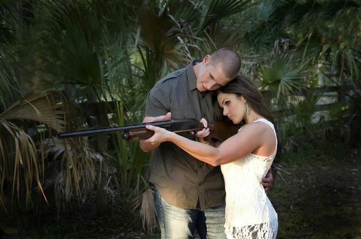shot gun engagement photo