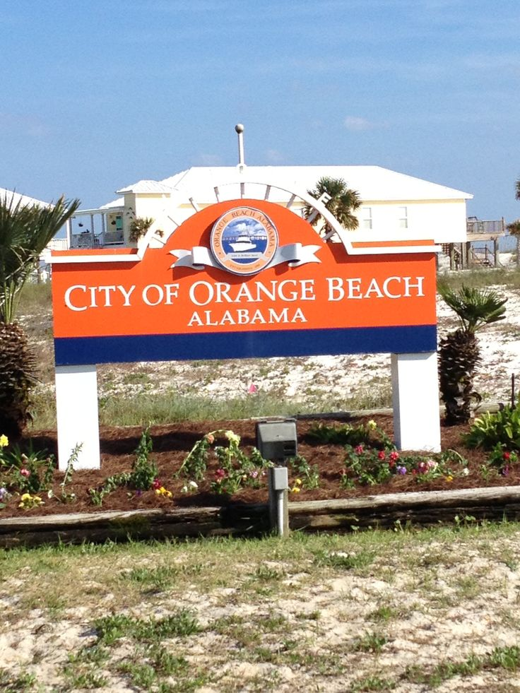 Welcome To The City Of Orange Beach, Alabama. Sugar White Sands On The Emerald Waters Of The Gulf Of Mexico
