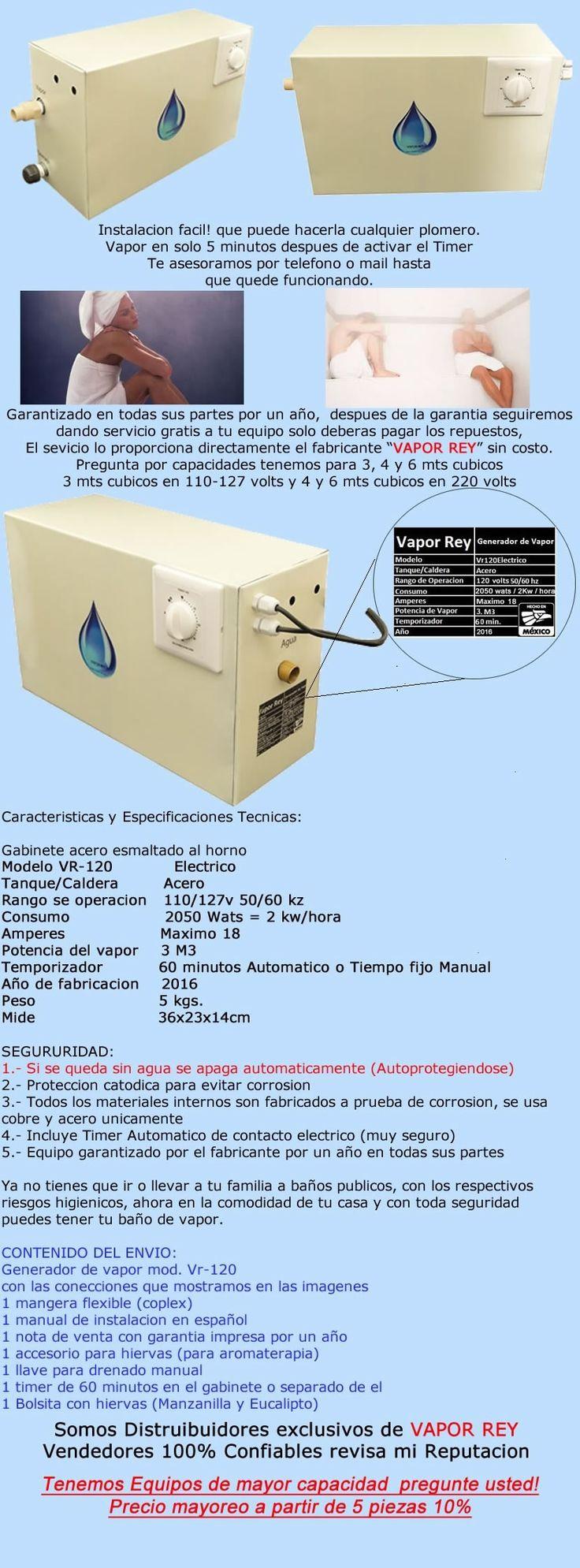 Generador De Vapor Para Baño En Casa O Depto. Envio Gratis!! - $ 3,199.00 en Mercado Libre
