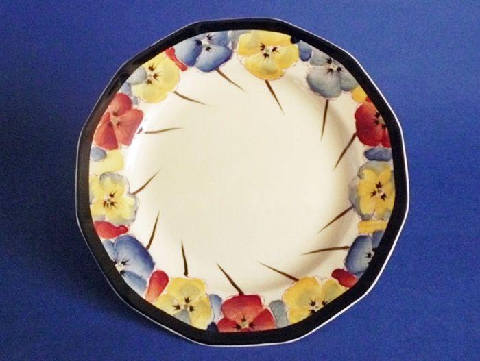 Royal Doulton 'Pansies' Series Art Deco Tea Plate D4049 c1929