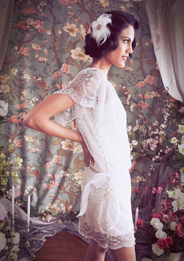 1000 images about great gatsby on pinterest for Daisy lace wedding dress