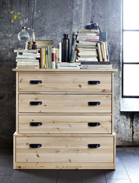 The Design Of Fjell Chest Is Sy And Grounded Made From Knotty Pine With Ikea Fjellikea Dresserdressersdresser