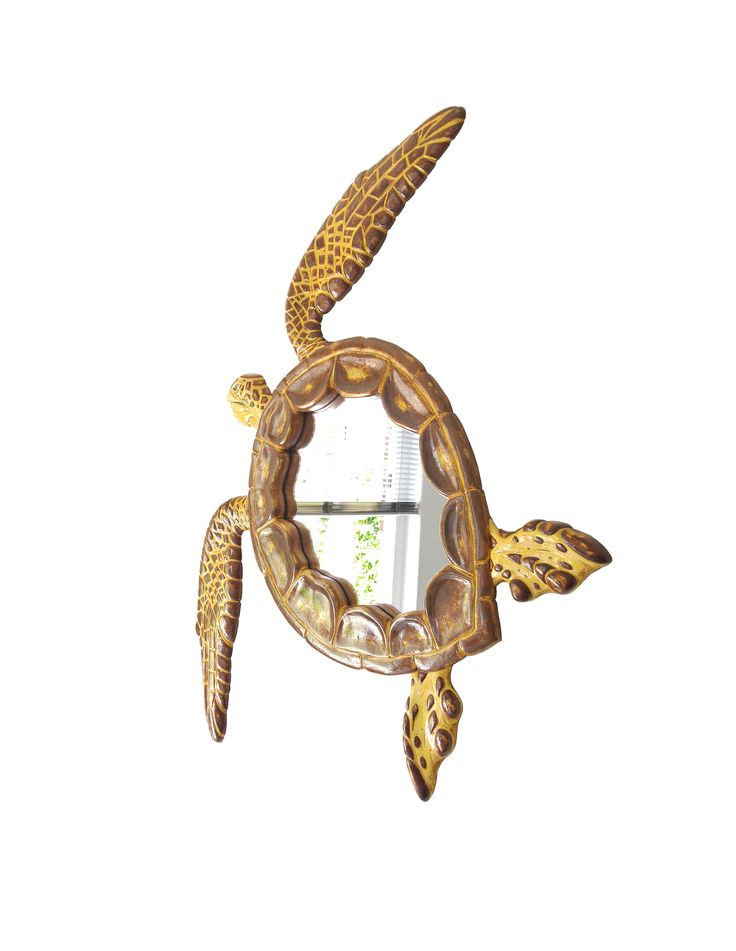 Sea Turtle wall mirror - a beautifully handmade art mirror in the form and shape of a graciously swimming Sea turtle. Now also available at Amazon Handmade & Etsy. Enjoy..!