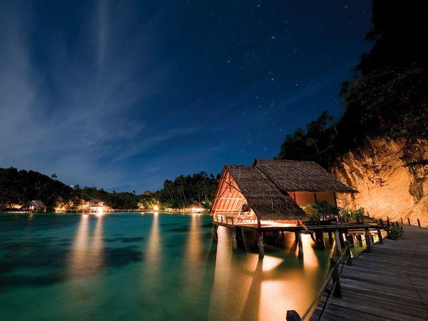 Kri Eco Resort, traditional resort built on the water. Raja Ampat, West #Papua, #Indonesia.