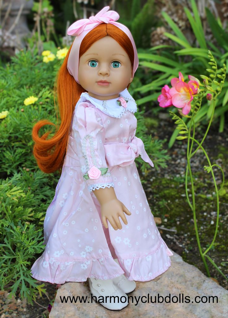 "Harmony Club Dolls fits American Girl Doll clothes and 18"" dolls. www.harmonyclubdolls.com"