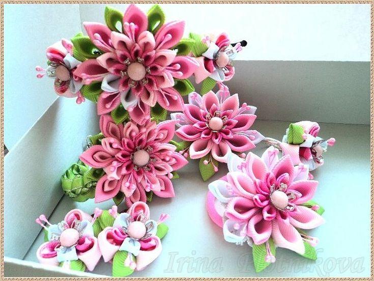 канзаши весенние цветы фото множеству