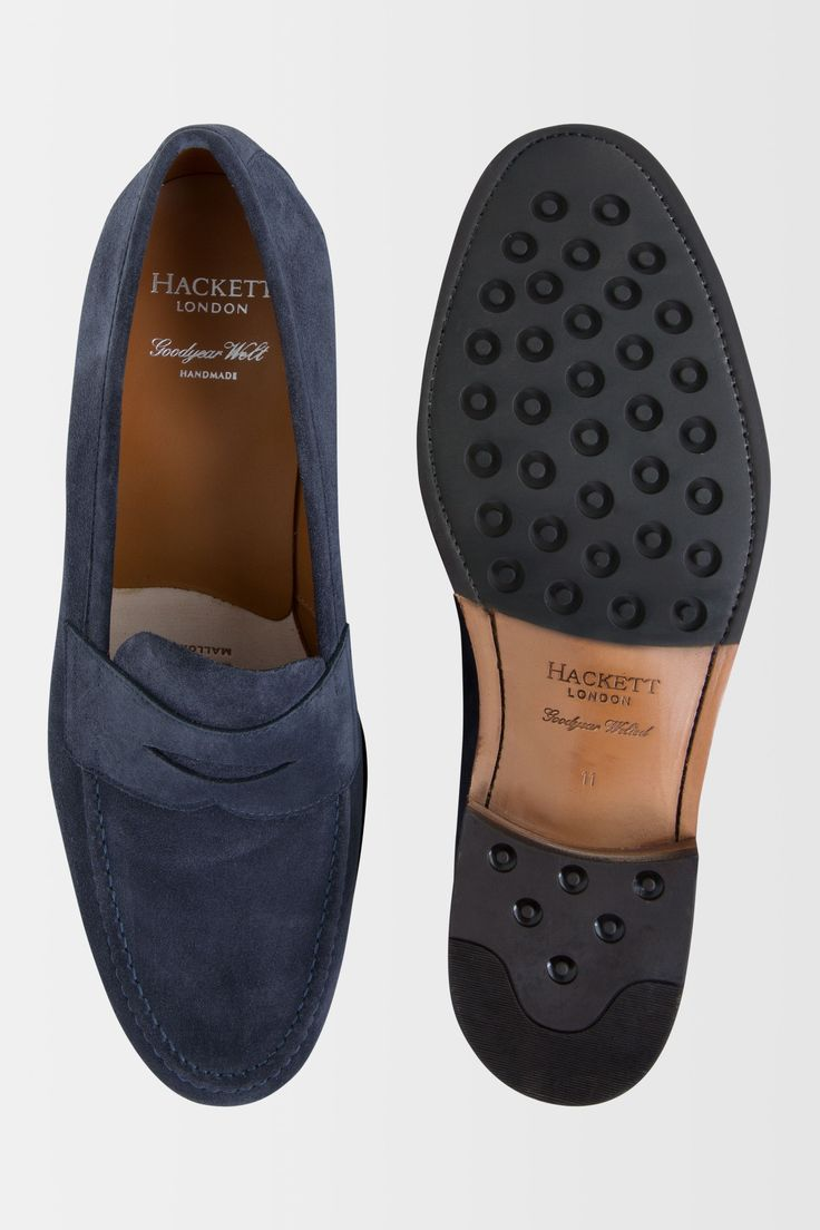 The Hackett Suede Penny Loafer - Shoes - Accessories | Hackett