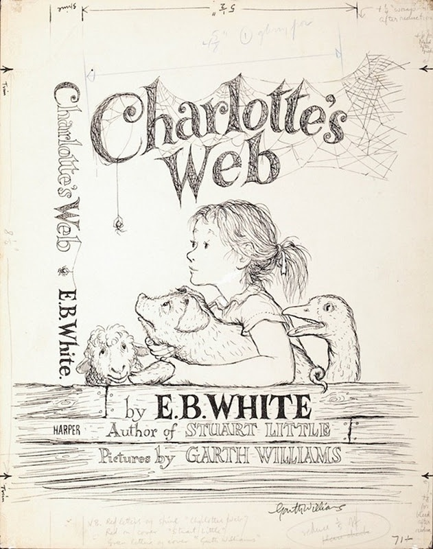 77 best antique illustrations and design images on pinterest original charlottes web illustrations 1952 retronaut fandeluxe Gallery