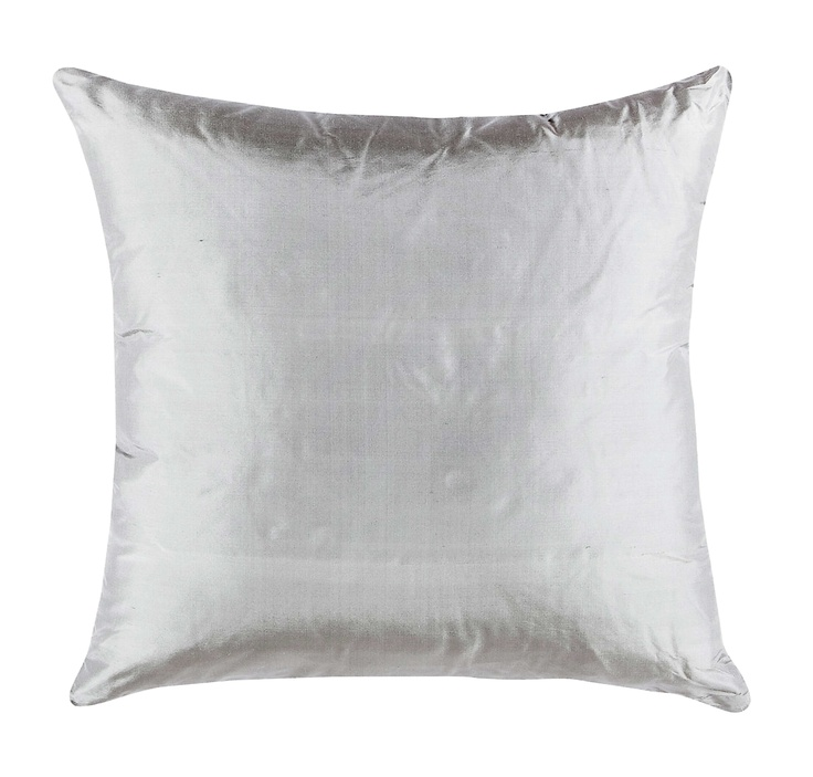Samara Silk Cushion Silver from Domayne