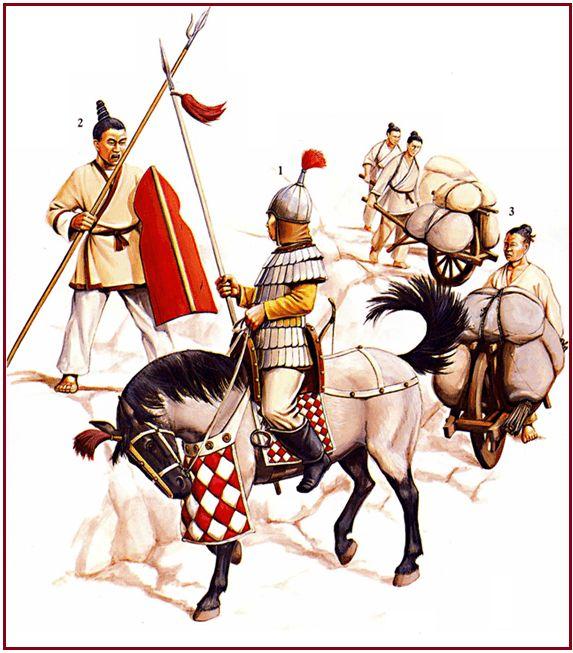 0220 - 0316 Michael Perry - Guerreros chinos durante la época de los Tres Reinos, 220-316 dC.