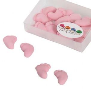 Deze prachtige roze suiker decoraties van FunCakes zijn perfect voor een babyshower!