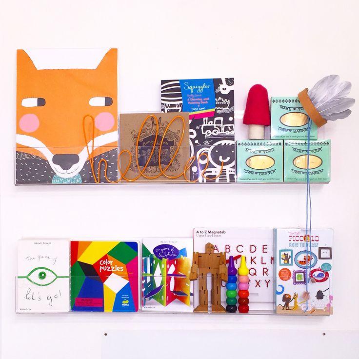 Clear book shelf set kidsinteriordesigns.com.au