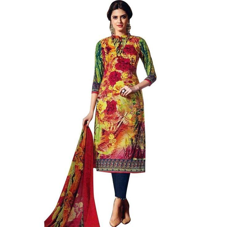Ready Made Gorgeous Indian Printed Cotton Salwar Kameez, Print, Casual, Evening Suit  #ShopNow #Designer #SalwarKameez #DressMaterial #FreeShipping #SalwarSuit #NewStuff #LowestPrice