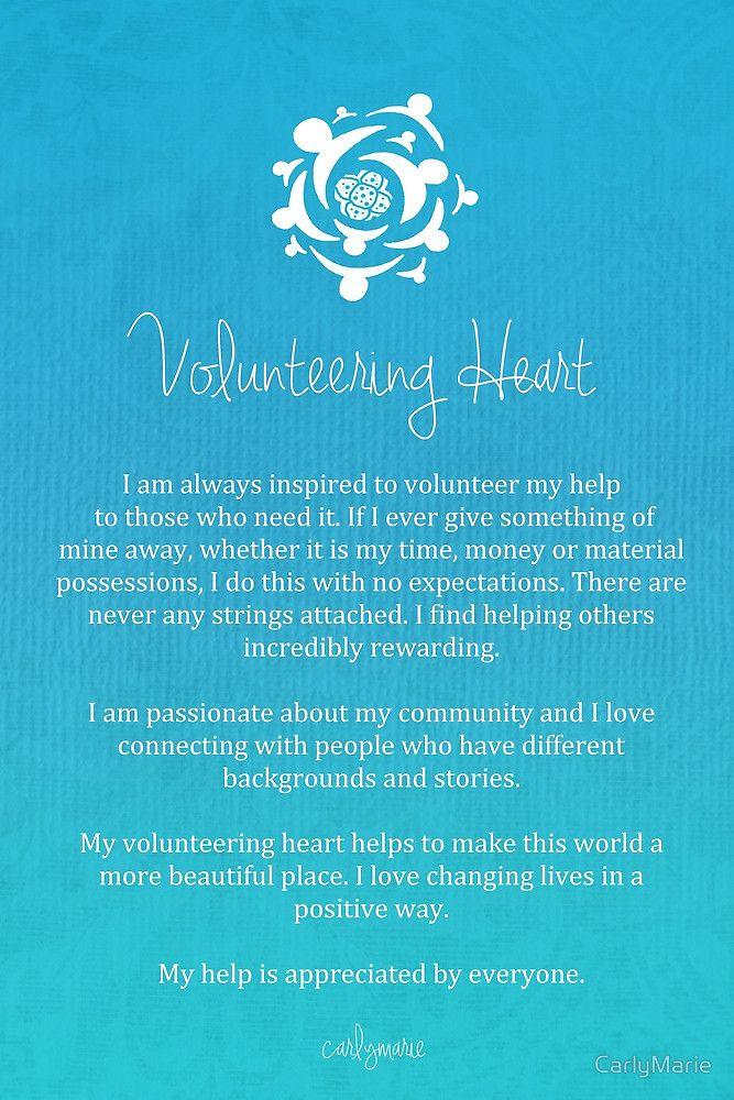 Affirmation - Volunteering Heart by CarlyMarie ...