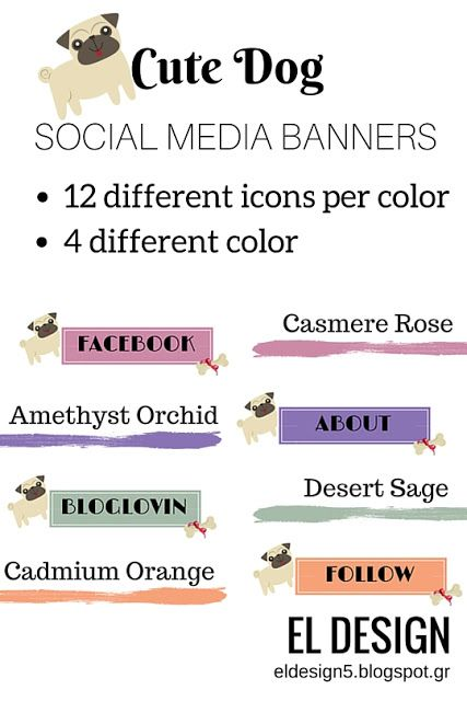 Cute Dog Social Media Banners : Freebies