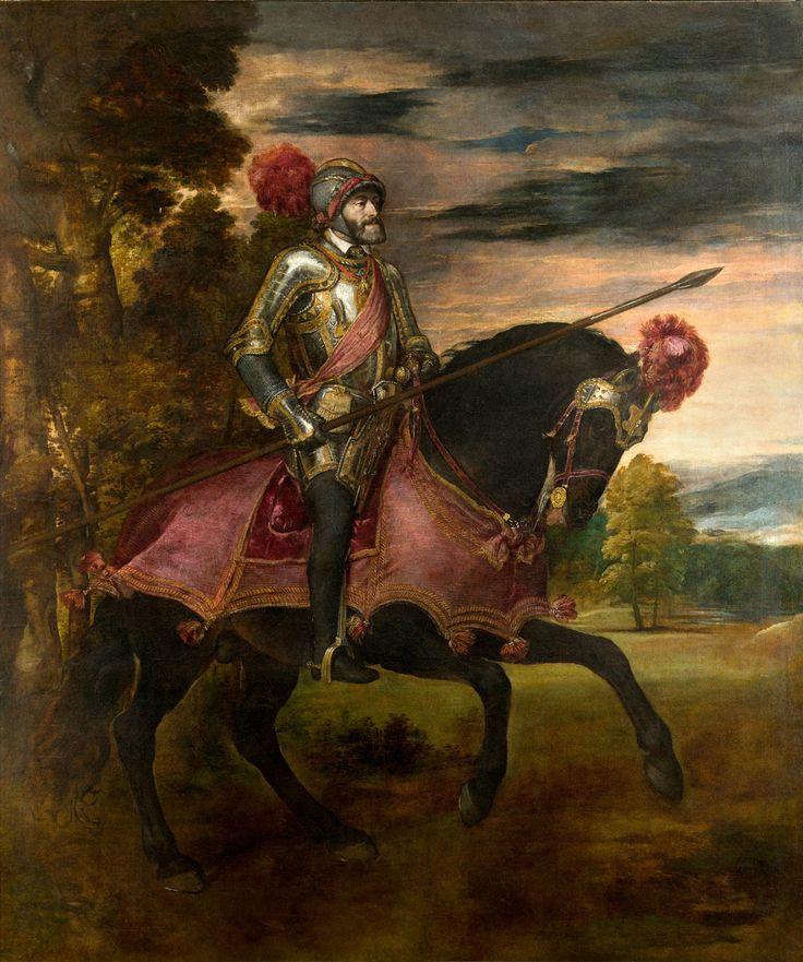 """""""Carlos V en la Batalla de Mühlberg"""", Tiziano, 1548"""