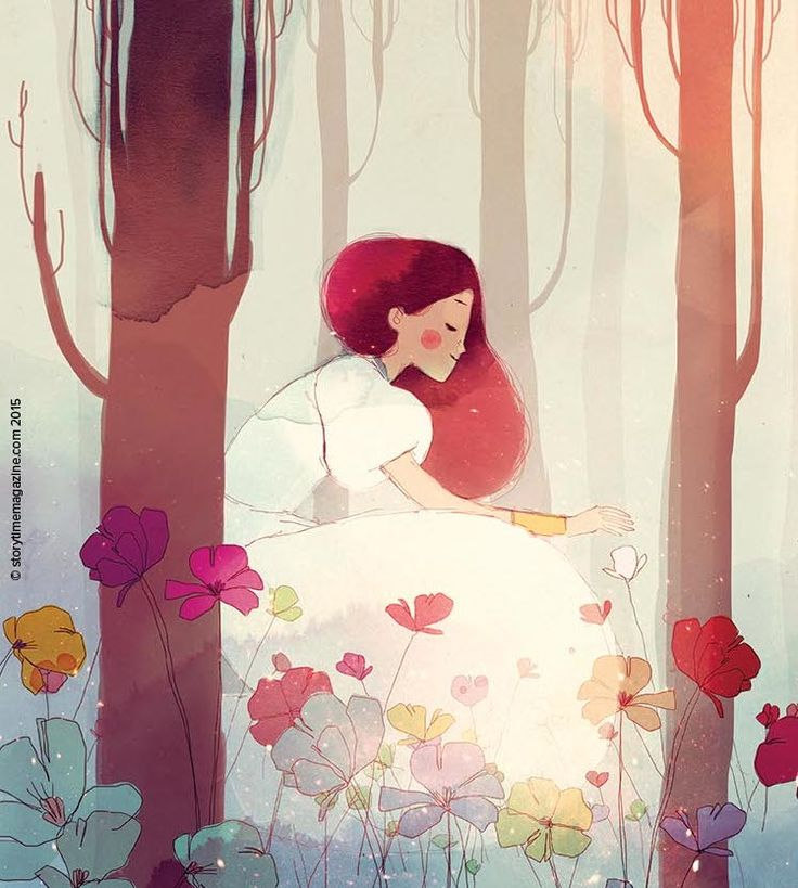 Stunning Persephone - our Greek myth in Storytime magazine Issue 5. Illustration by Conrad Roset (http://www.conradroset.com) ~ STORYTIMEMAGAZINE.COM
