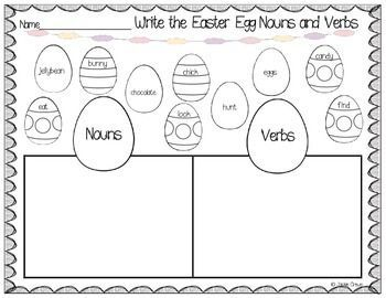 I appreciate your feedback! This is a fun Easter noun and verb sort that would be so cute to use for a spring literacy center. Students write the nouns and verbs in columns. They can color the eggs as they use the words for the sort! Included is the sort itself and two sentence-writing templates; one color version and one black and white version.