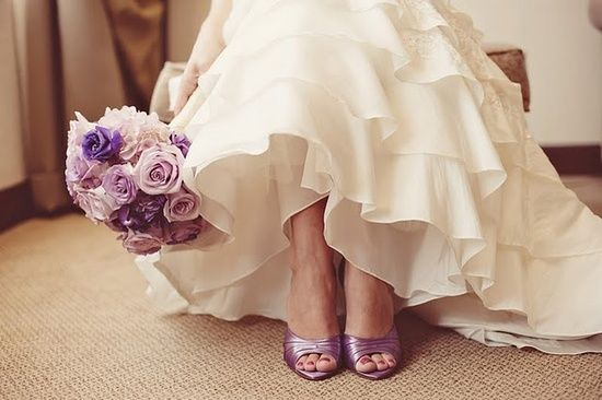 Colourful wedding shoes - Violet