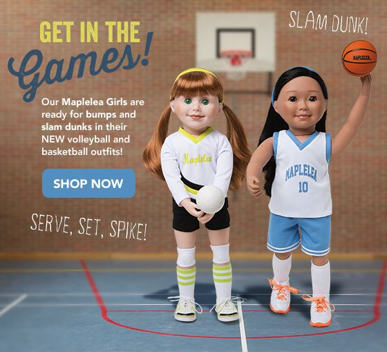 Get in the Game! New volleyball and basketball outfits from Maplelea!