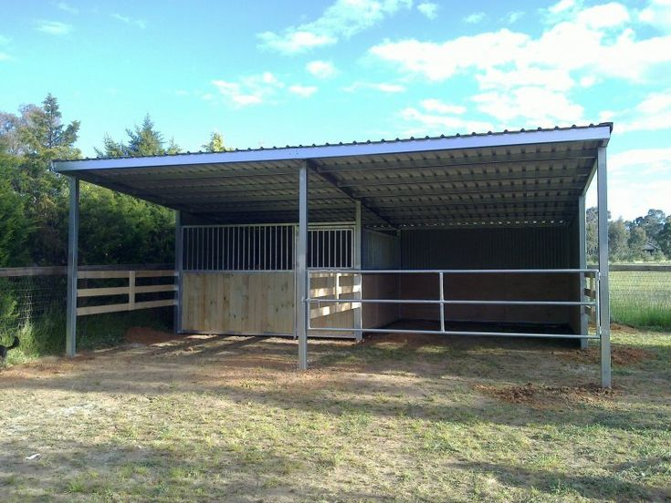 how to build a run in shelter for horses