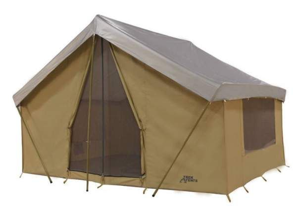 Trek Tents 246c Cotton Canvas Cabin Tent Is A Non Freestanding 4 Season Breathable And Pleasant 9 Person Structure With 3 Large Mes Tent Cabin Tent Cool Tents