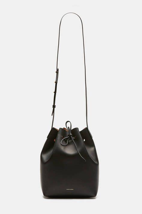 Mansur Gavriel — Bucket Bag Coated Interior   Black/Ballerina — THE LINE