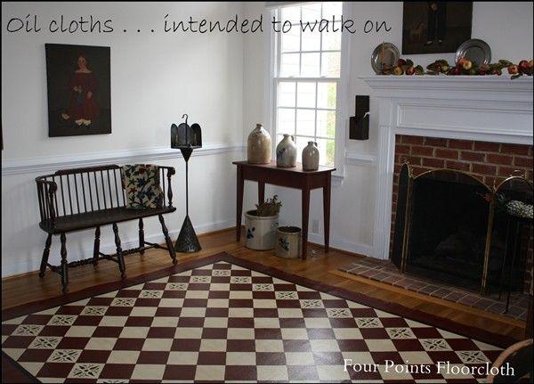 52 Best Painted Canvas Floor Cloths Images On Pinterest