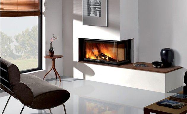 22 Ultra Modern Corner Fireplace Design Ideas