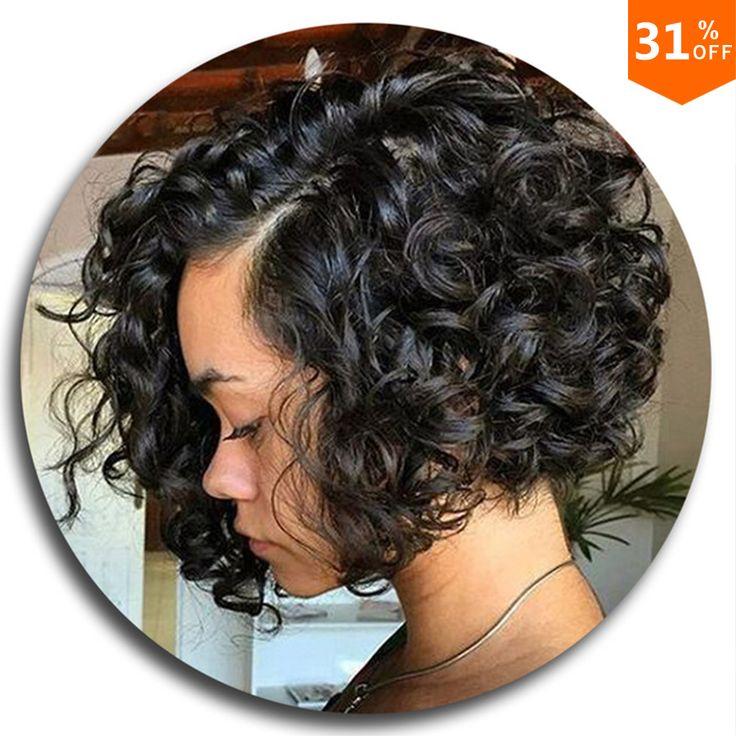 Curly Wig Glueless Full Lace Human Hair Wigs Short Human Hair Lace Front Wigs Black Women Brazilian U Part Bob Wig Black Friday http://jadeshair.com/curly-wig-glueless-full-lace-human-hair-wigs-short-human-hair-lace-front-wigs-black-women-brazilian-u-part-bob-wig-black-friday/ #Wigs