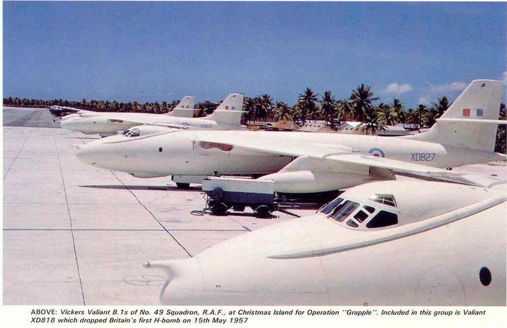 valient bomber | Christmas Island (Kiritimati) Bombers - Vickers Valiant Bomber