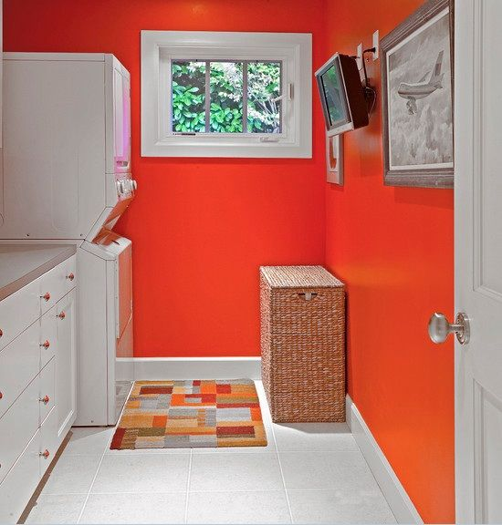 laundrey room colors | Rose colored paint color ideas laundry room Laundry Room Paint Color ...