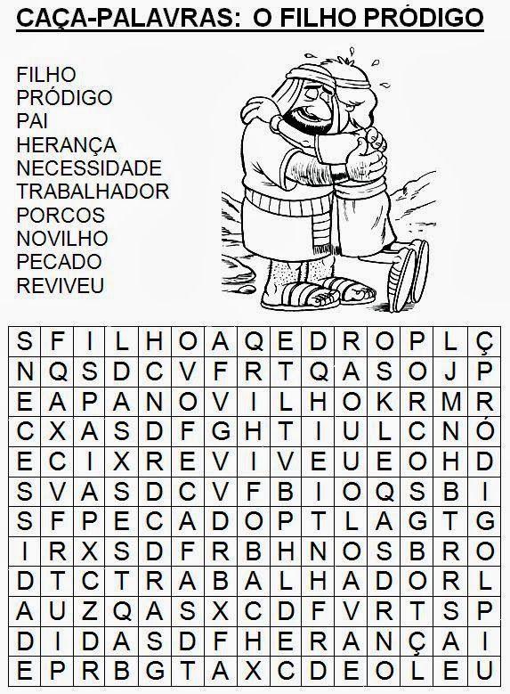 Resultado de imagem para pelos caminhos da evangelização - ATIVIDADES - PARABOLA DO FILHO PRODIGO
